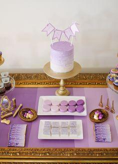 Purple & Gold Dessert Table