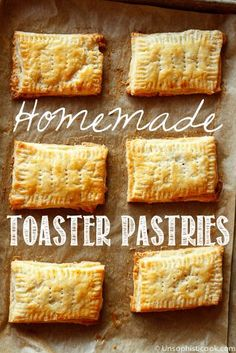Homemade Toaster Pastries | Unsophisticook.com -- who wants Pop-Tarts when you can have these tender, light and flaky homemade toaster pastries with your choice of filling? Nutella is a delicious option!