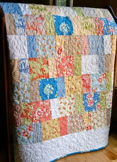 California Girl fabric patchwork quilt