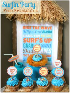 Surf-themed printables