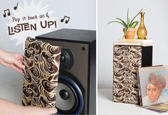 Thrifted Speakers Transformed With Fabric