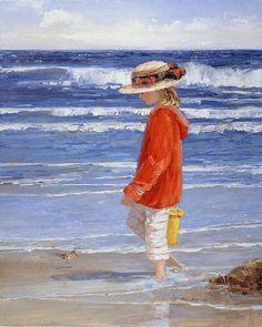 Walking on the beach CROSS STITCH PATTERN 453 by Maxispatterns, €5.90