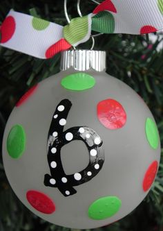 Hand Painted Christmas Ornament -