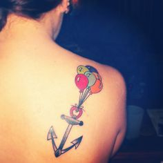 tattoo! #anchor #heart #balloons #tattoo minus the heart and no color for the balloons