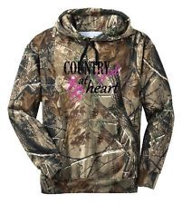 Country Girl at Heart Camo Hoodie, available in many color combinations on eBay!