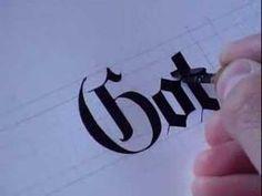 gothic typography, gothic style, calligraphy gothic