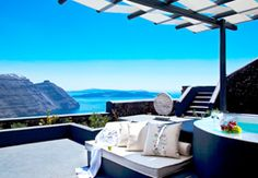 Master suite at the San Antonio in Santorini...another hotel option.