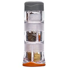 Spice up your meals How to store camp spices in a post–film canister world? In a compact 6-compartment GSI Outdoors Spice Missile. $10; gsioutdoors.com spice missil, surviv gear, spice jars, gsi outdoor, outdoor adventur, camp gear, spices, camping gear, meal