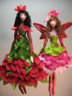 How to make flower fairies tutorial