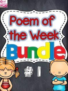 Poetry {Poem of the Week} Bundle 1 Activity Packs 1-5 Shar