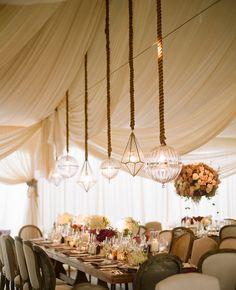 Stunning Geometric Lights -- wedding design by Mindy Weiss, photo by @Elizabeth Lockhart Messina