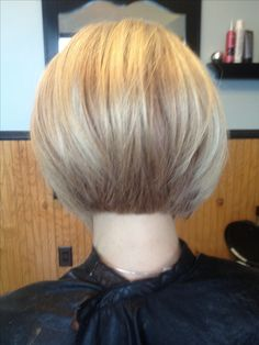 Lovely color and cut :) - Stacked Bob by Salon•M