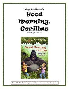 FREE MTH novel study: Good Morning, Gorillas