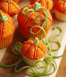 Cute pumpkin cupcake