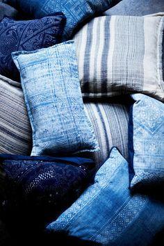 interior design, design bedroom, blue interiors, home interiors, color, cushion, textil, throw pillows, shade