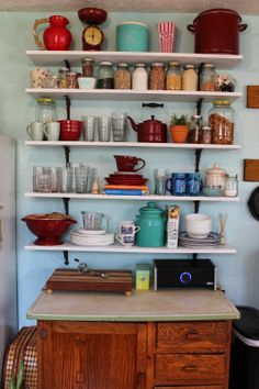Upcycled Downriver: Open Shelving: The New Love of My Life.