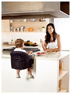 """Move Over Traditional High Chair - space saver at home and easy to pack and travel with."""