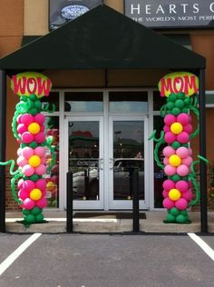Great balloon entrance for Mother's Day