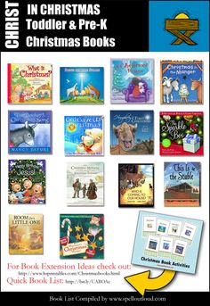 Christ in Christmas books for Toddlers & PreK by @SpellOutloud