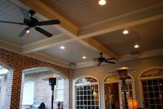 Coffered Ceiling in Memorial Houston by TexasCustomPatios, via Flickr