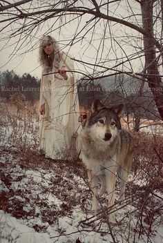 with wolves