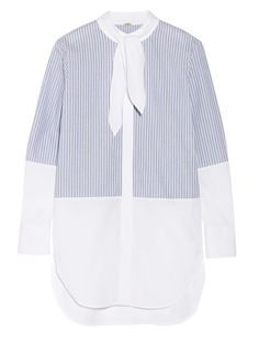 Business Casual, Adam Lippes striped cotton-poplin shirt