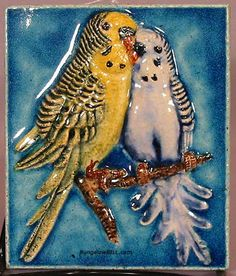 Budgie tile by Karlsruhe