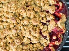 We can't wait to make this Vanilla Plum Crumble Pie