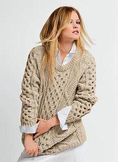 Ravelry: 652 - Irish Knit Sweater pattern by Berg�re de France  Knit Sweater #2dayslook #KnitSweater #susan257892 #sunayildirim  #sasssjane    www.2dayslook.com