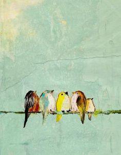 birdi, art, inspir, paint, quot, birds, illustr, print, thing