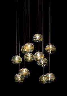 Fireball contemporary pendant lighting