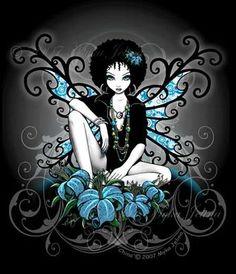 fantasi, gothic faeri, china retro, gothic fairi, afro art, gothic flower, flower fairies, afro gothic, myka jelina