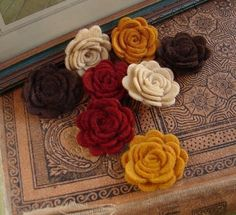 Wool felt Autumn Posies