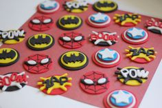 Superhero-Themed Fondant Cupcake Toppers - Perfect for Cupcakes, Cookies and Other Edibles ... $23.99