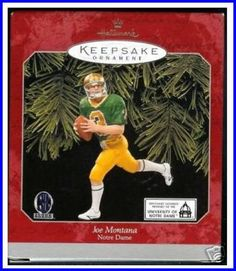"Christmas Decorations And Gifts ""Hallmark Joe Montana Tree Ornament"""