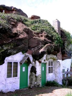 cave houses near Tolkien's childhood home Rock Dwellings