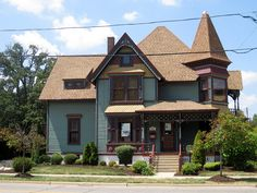 Old house, Christian Geister House,1894, located in Algonquin IL.
