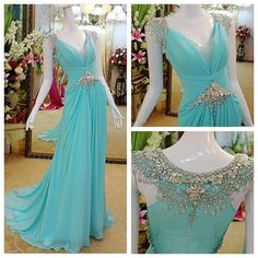 Custom made Luxury Exquisite Cap Sleeves Beading Court-Train For women party gown long prom dress long evening dresses for 2014 Maxi Dresses on Etsy, $289.00