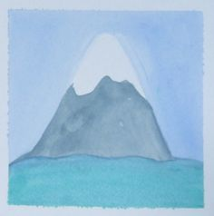 The Mountain and the Sea - Original Watercolor Painting | Lauren S Strom