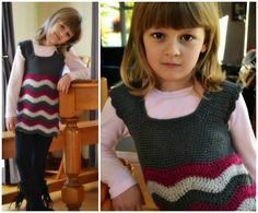 Crochet ripple dress 21