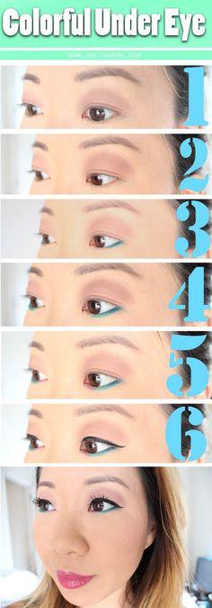 Easy Colorful Under Eye Tutorial | Geniabeme Beauty Blog