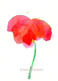 Petals watercolor flower giclee fine art print. $15.00, via Etsy.