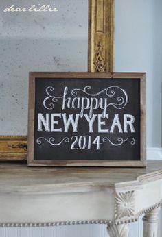 Image of Happy New Year 11x14 Chalkboard Print