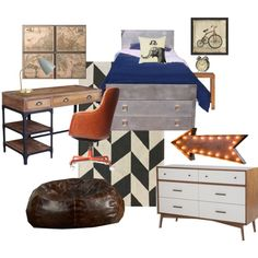 """industrial boys room"" by christina-manduley on Polyvore"