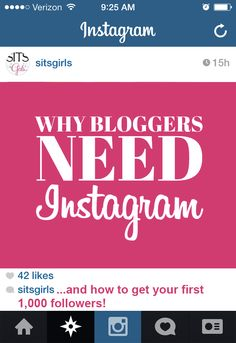 Why bloggers need Instagram