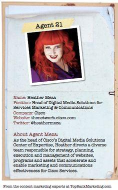 Bio for Secret Agent #21 @heathermeza  to see her content marketing secret visit tprk.us/cmsecrets