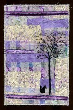 fabric postcard art