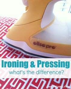 Did you know there's a difference between pressing and #ironing? Check out the differences here!