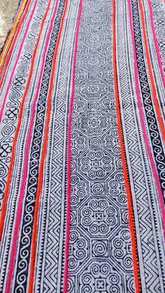 Handwoven Batik Cotton  Hmong  Vintage textiles and by dellshop, $24.99