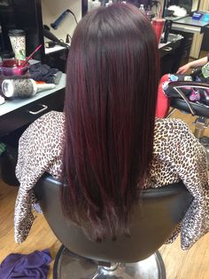 Red highlights, brown-redbase brown hair highlights red, red highlights